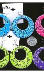 bandana print hoops