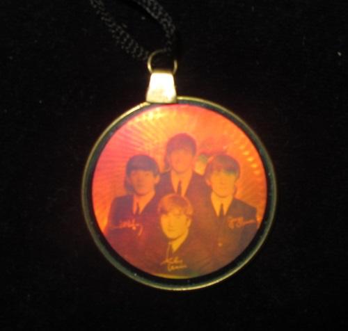 Beatles jewelry hologram necklace