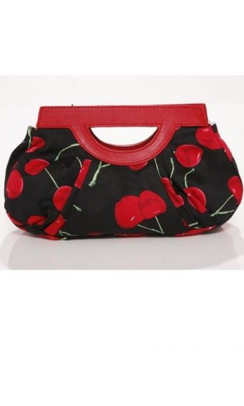 Cherry purse 1950s print purse