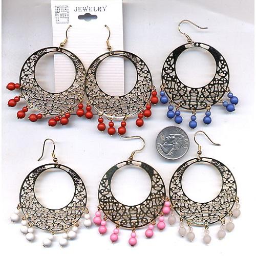 hippie bead earrings