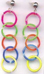 neon rainbow earrings
