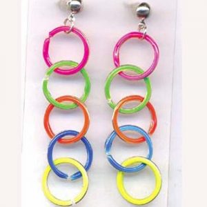 neon rainbow earrings