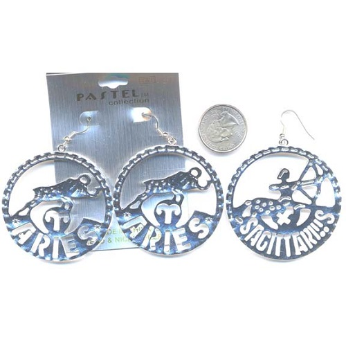 zodiac sign jewelry earrings