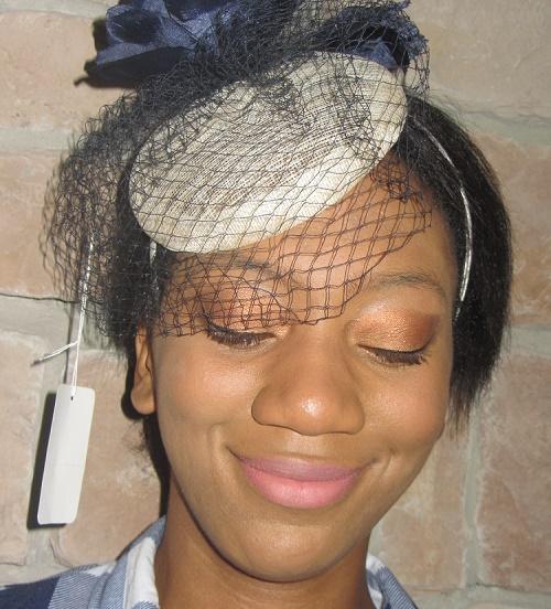 cream fascinator hats