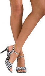 black and white sandal heels 1960s mod sandals
