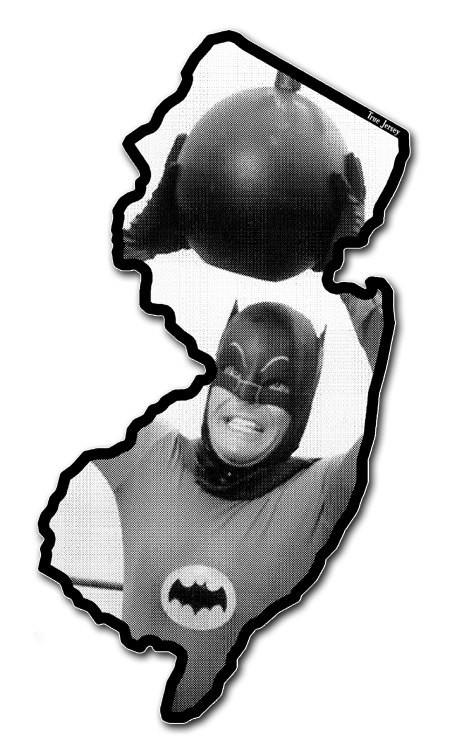 New Jersey bumper sticker vintage Batman sticker