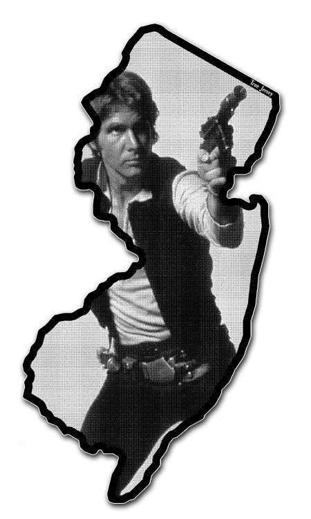 New Jersey bumper sticket Han Solo sticker