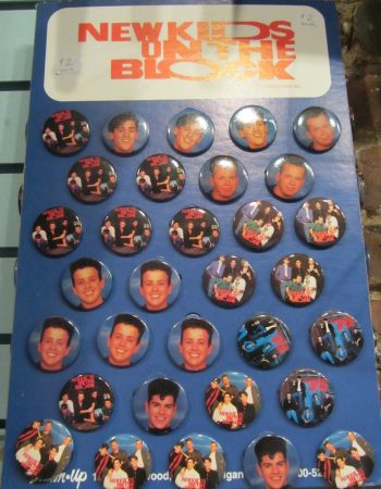 New Kids on the Block 80s buttons