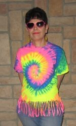 Tie tye fringe t-shirt raiinbow