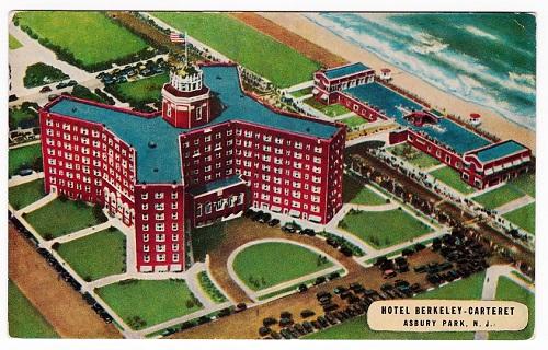 vintage Asbury Park postcard Berkeley Carteret hotel