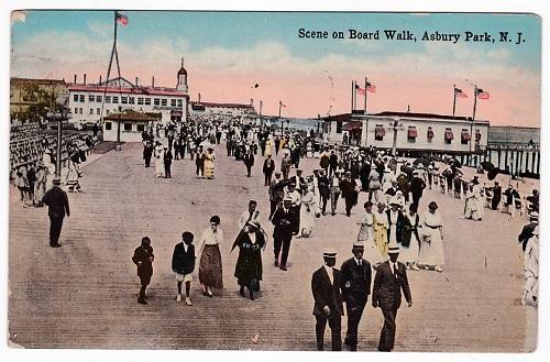 vintage postcard Asbury Park boardwalk
