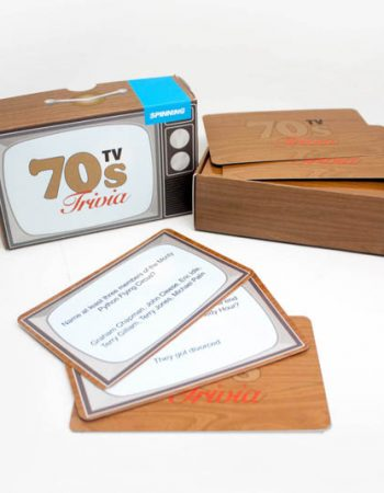 70s TV trivia cards