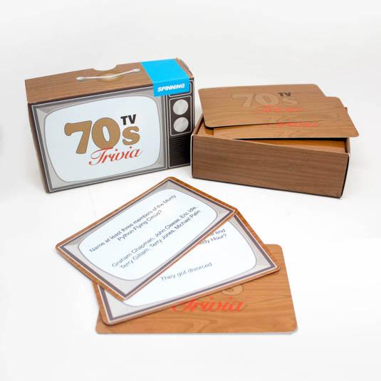 70s TV trivia cards
