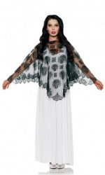 Day of the Dead lace poncho