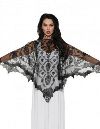 vampire lace poncho black lace poncho