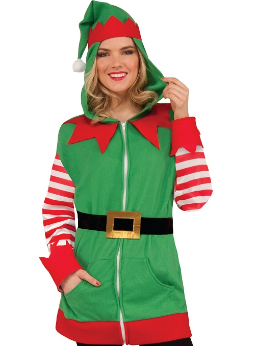 adult elf costume hoodie