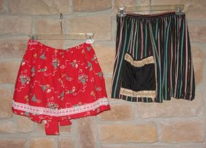 fun holiday party ideas: vintage aprons