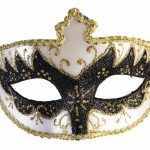 Mardi Gras masquerade masks : black and white