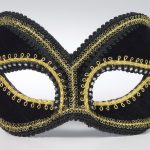 Mardi Gras masquerade masks : black glasses