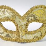 Mardi Gras masquerade masks : gold glasses