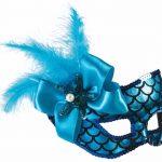 Mardi Gras masqerade masks: mermaid