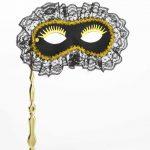 Mardi Gras masqerade mask on stick