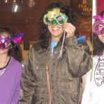 Mardi Gras fun: mask making