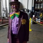 Mardi Gras fun bow tie guy