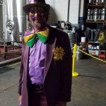 Mardi Gras fun bow tie guy