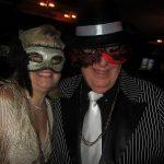Mardi Gras fun gangster couple