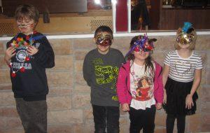 Mardi Gras Fun mask making kids