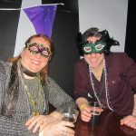 Mardi Gras fun masked couple