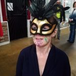 Mardi Gras fun; face painting