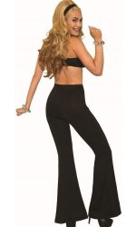 black bell bottoms 1970s disco pants
