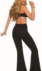 black bell bottoms 1970s disco pants