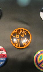Hippie pins Hippie buttons Protest buttons