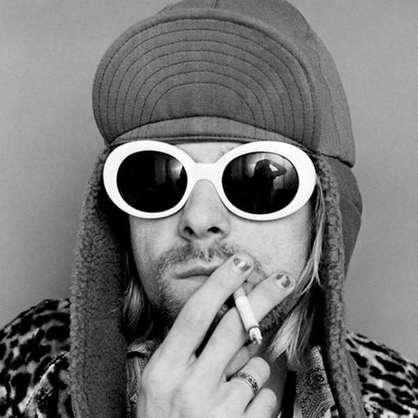 Kurt Cobain Glasses Kurt Cobain White Sunglasses