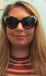 Retro cat eye glasses black 1950s glasses