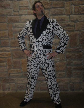 Skull jacket Skull print tuxedo