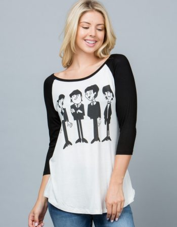 Lon-sleeved cartoon Beatles tee shirts