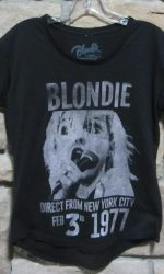 Blondie concert 1977 t-shirt