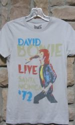 David Bowie Live t-shirt Santa Monica 72