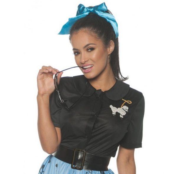 Poodle shirt black Poodle blouse