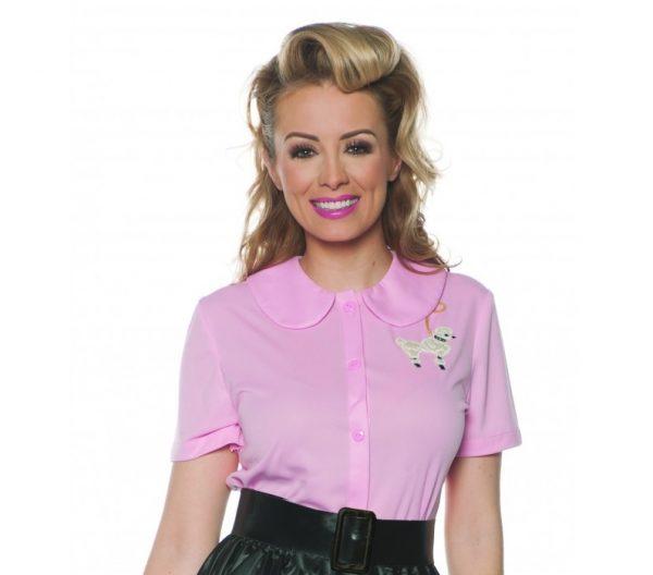 Poodle shirt pink Poodle blouse