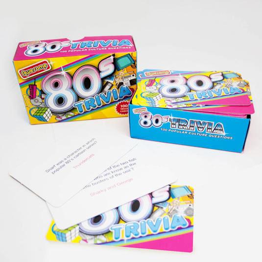 1980s trivia cards