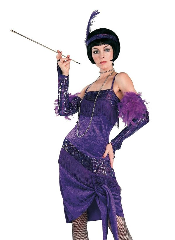 Purple flapper dress Fabulous flapper