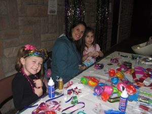 Mardi Gras events: mask making