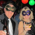 Mardi Gras events: masquerade couple