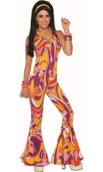 Printed jumpsuit 1970s jumpsuit