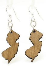 New Jersey shape earrings